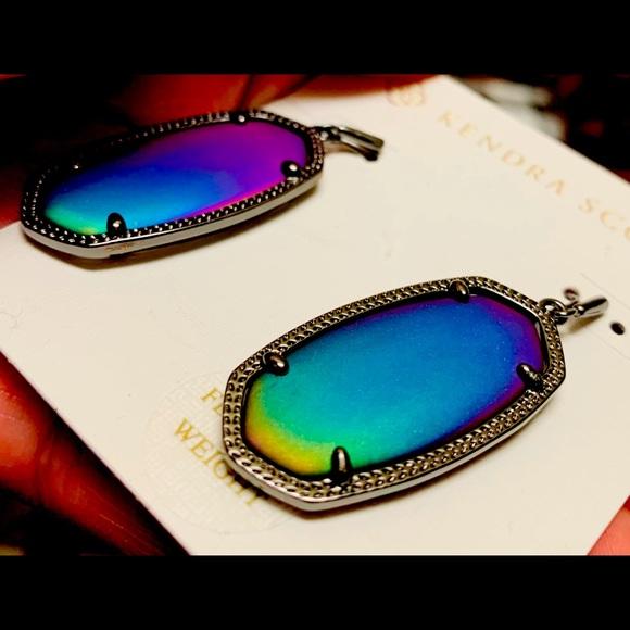 Kendra Scott Matte Galaxy Glass Elle Earrings